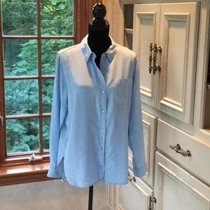 Athleta size M light blue shirt w vented back